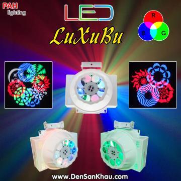 Led xoay hoa quay sân khấu Luxubu