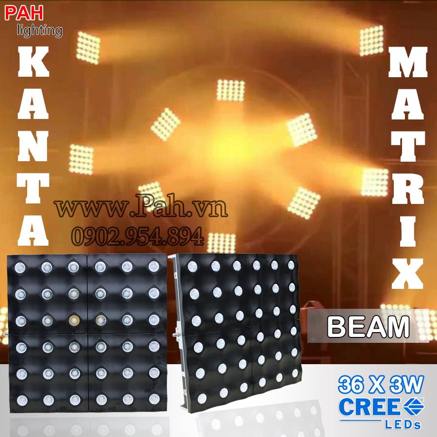 LED blinder 36 bóng pha trắng ấm