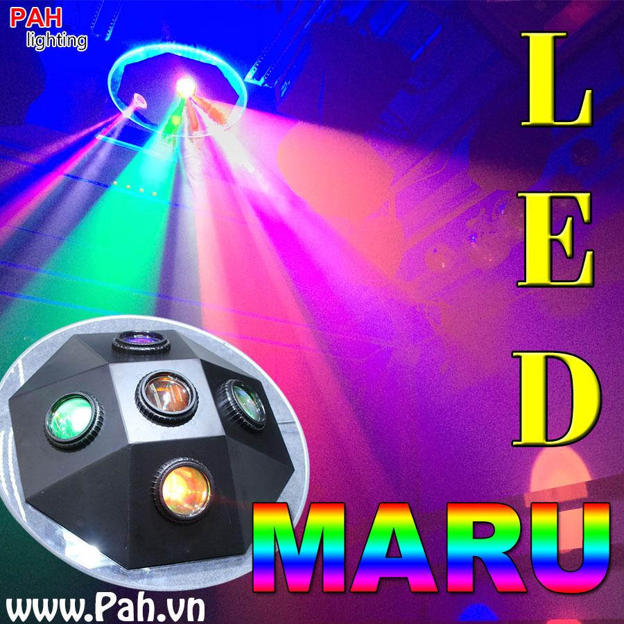 Đèn led hiệu ứng 7 màu MARU cho phòng hát với nhau, karaoke