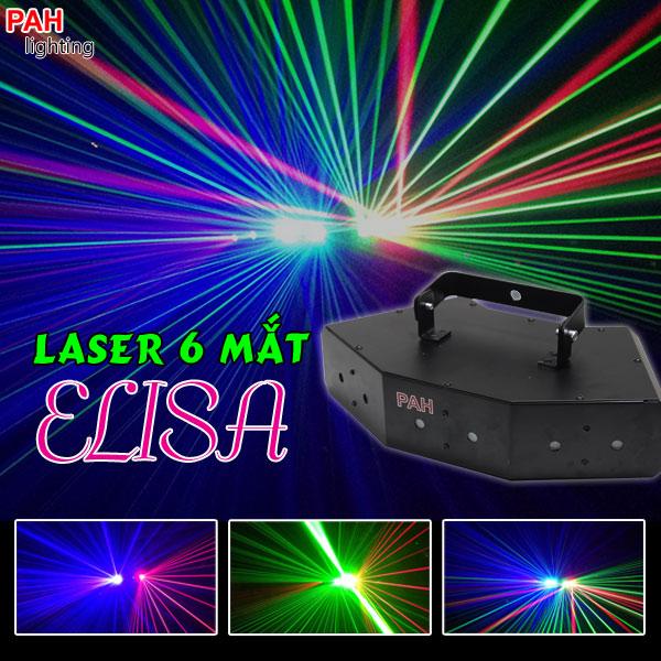 Đèn sân khấu quét tia laser 6 mắt siêu đẹp