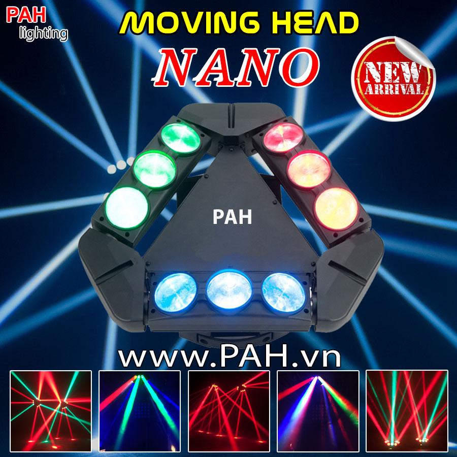 Đèn Moving Head 9 Đầu Siêu Sáng