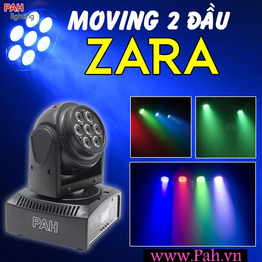 Đèn moving head quay 2 đầu Zara