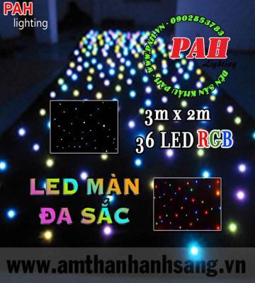 Màn đèn Led Đa Sắc 36 LED RGB