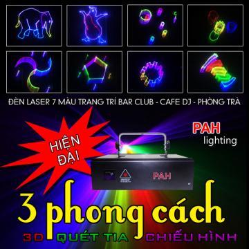 Đèn Laser 7 Màu 3 Phong Cách