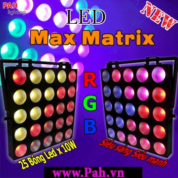 Đèn LED Pha MaTrix Full Color Sân Khấu Siêu Sáng