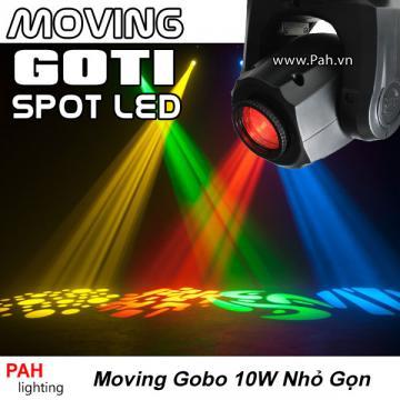 Đèn moving head mini công suất 10w nhỏ gọn dễ thương