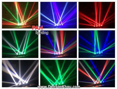 Đèn led sân khấu theo nhạc 4 đầu FORO  3